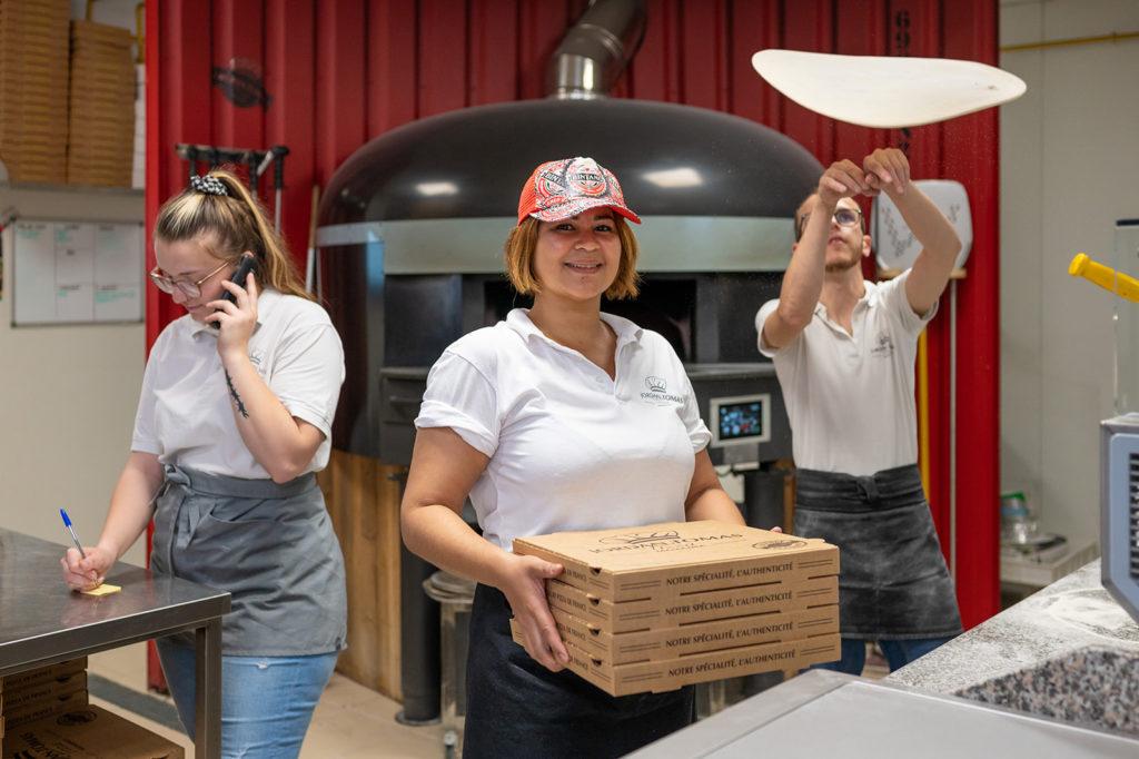 L'équipe Jordan Tomas Pizza de Lyon Saint-André